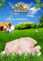 плакат: экологиески чистая курица