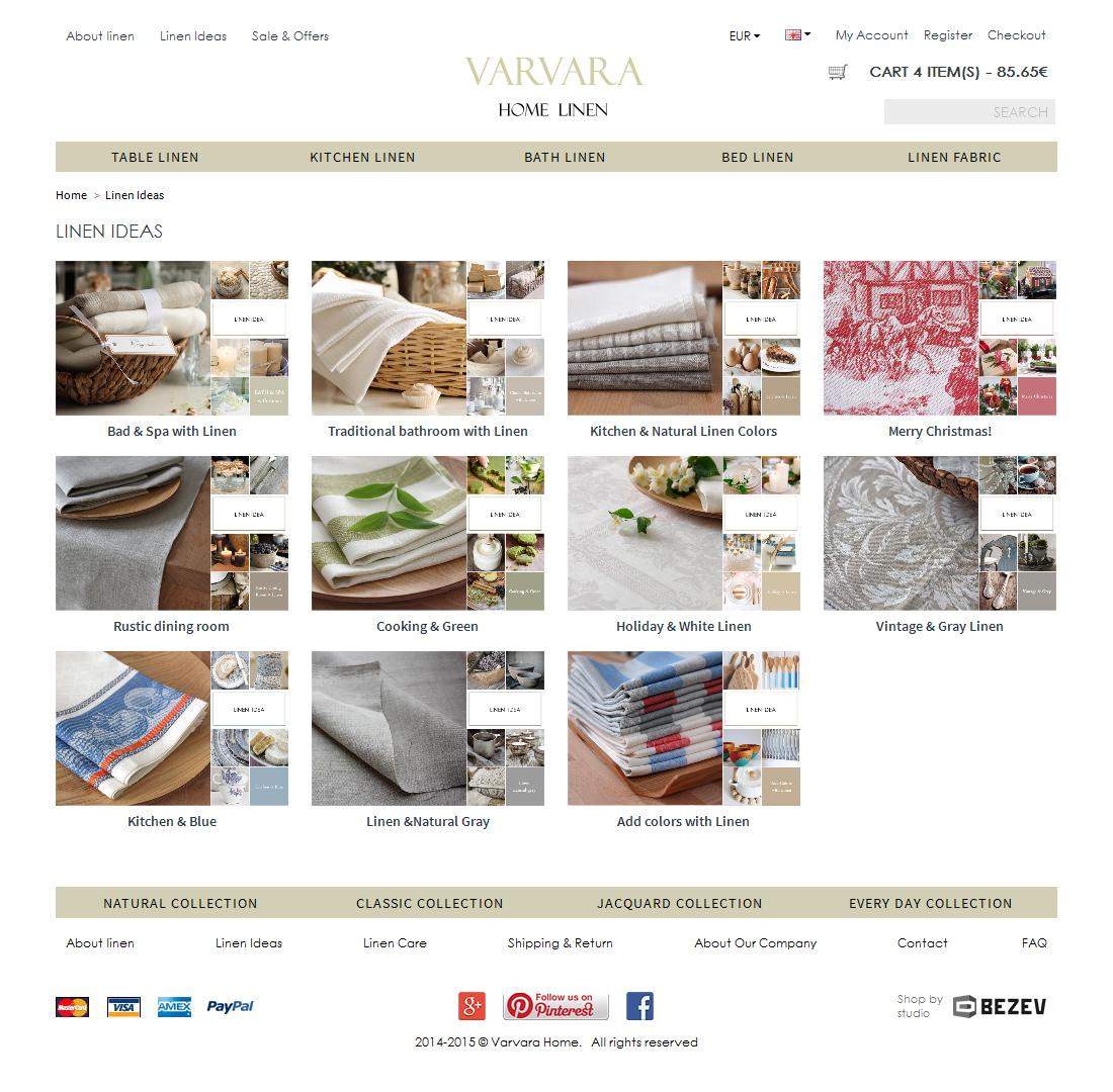 Интернет-магазин Varvara home