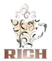 "эскиз лого ""кофейня RICH"""