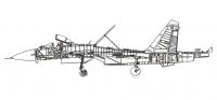 обрисовка чертежа самолета