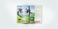 Дизайн разворота в журнал для поселка