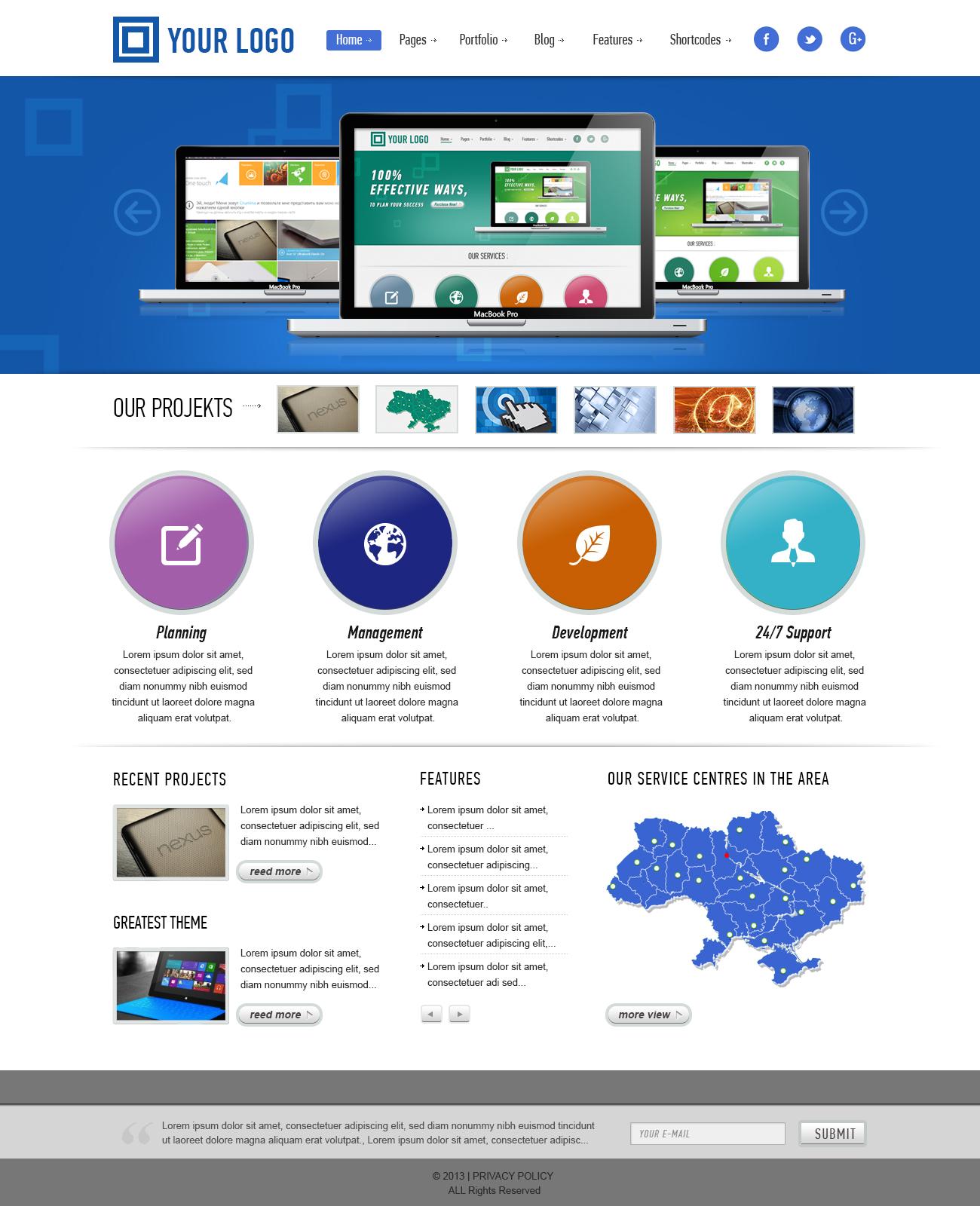 Дизайн Шаблона для Wordpress
