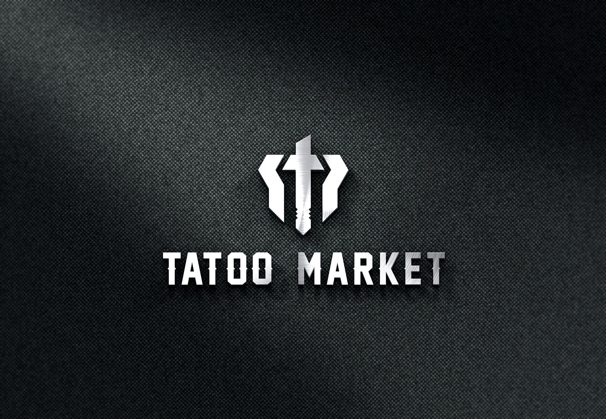 Редизайн логотипа магазина тату оборудования TattooMarket.ru фото f_1675c414a0413eec.jpg