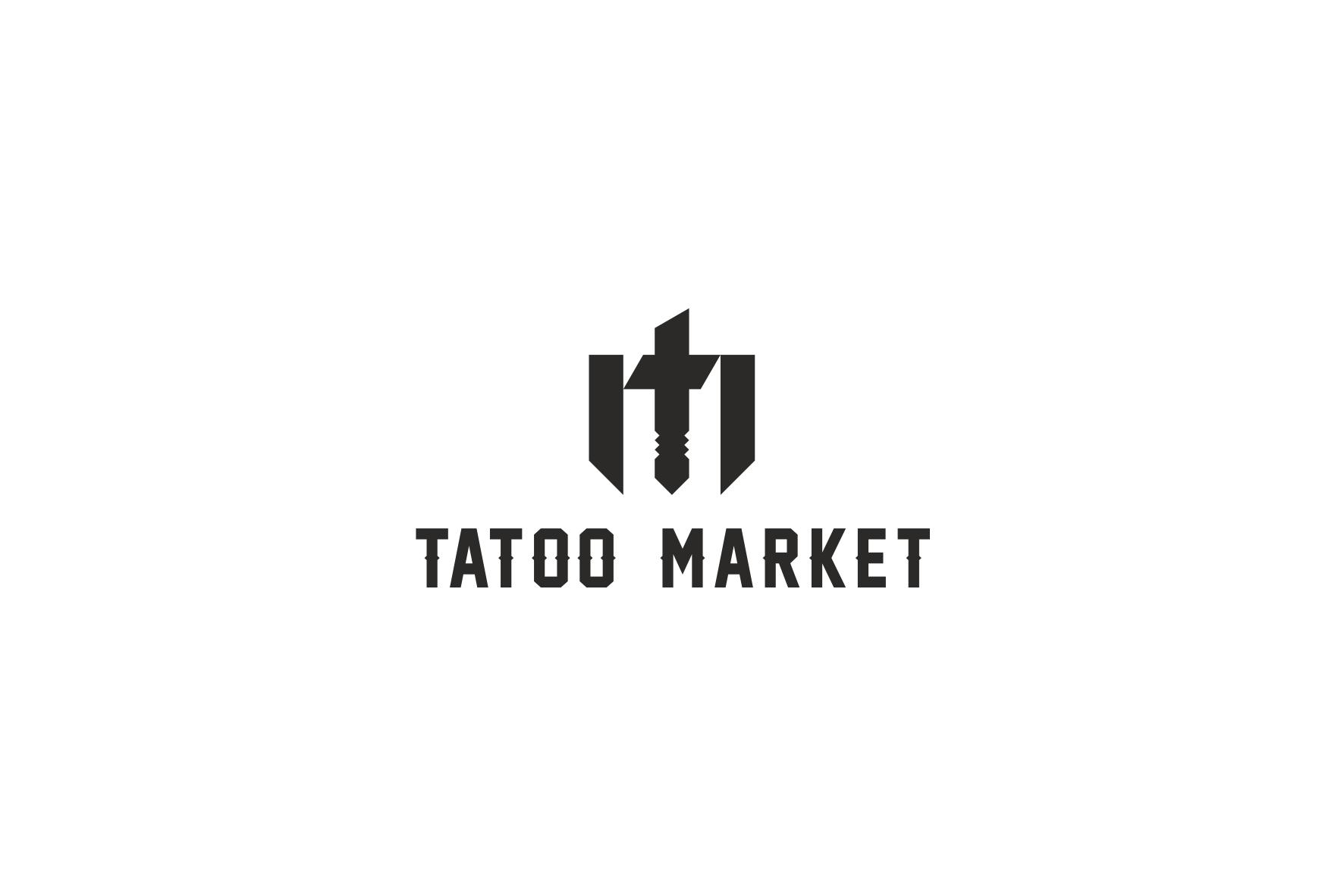 Редизайн логотипа магазина тату оборудования TattooMarket.ru фото f_3885c414a9182aab.png