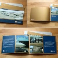 Буклеты компании RusJet для выставки в Швейцарии