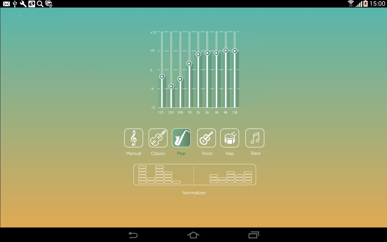 Приложение эквалайзер (схема музыки)
