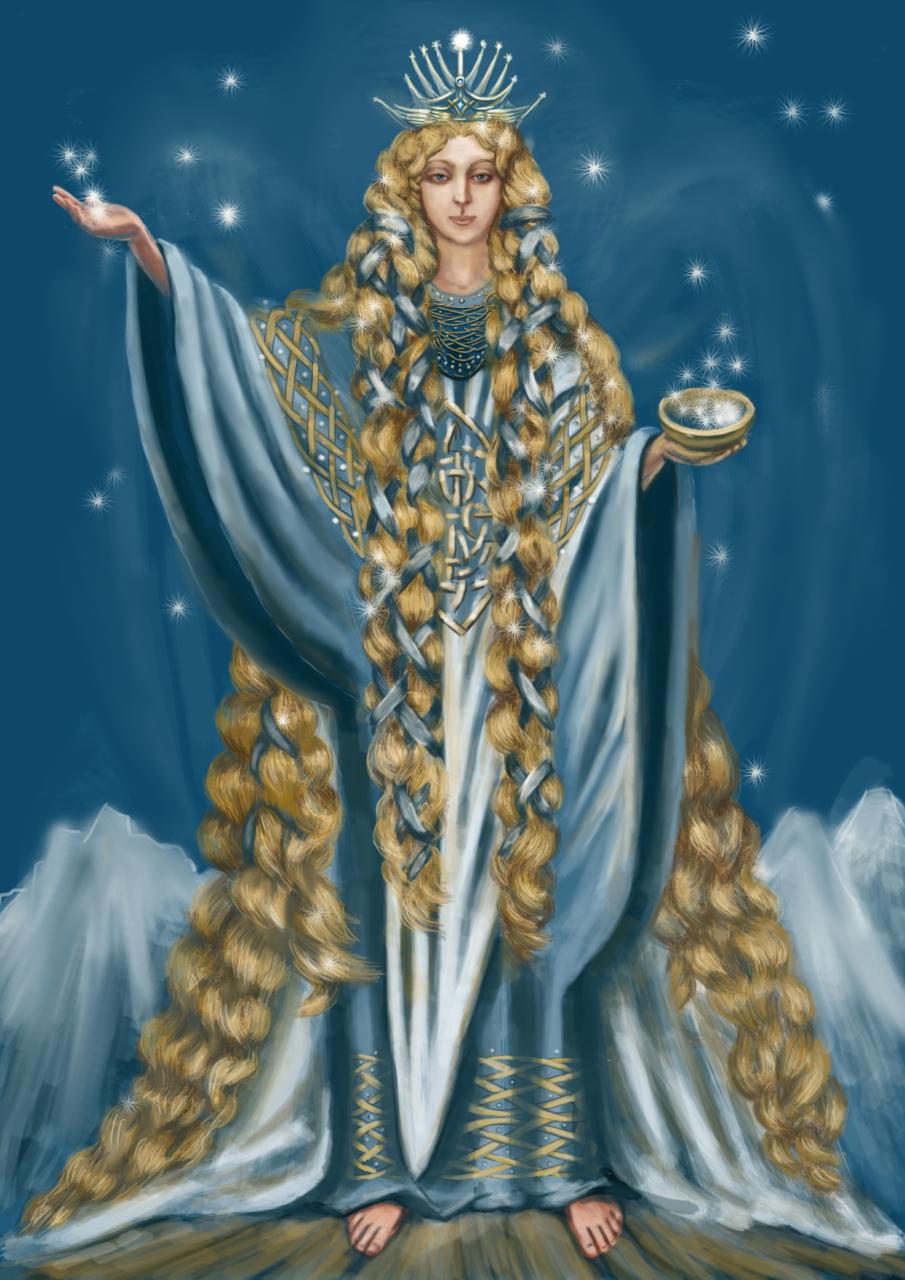 Королева звезд. иллюстрация