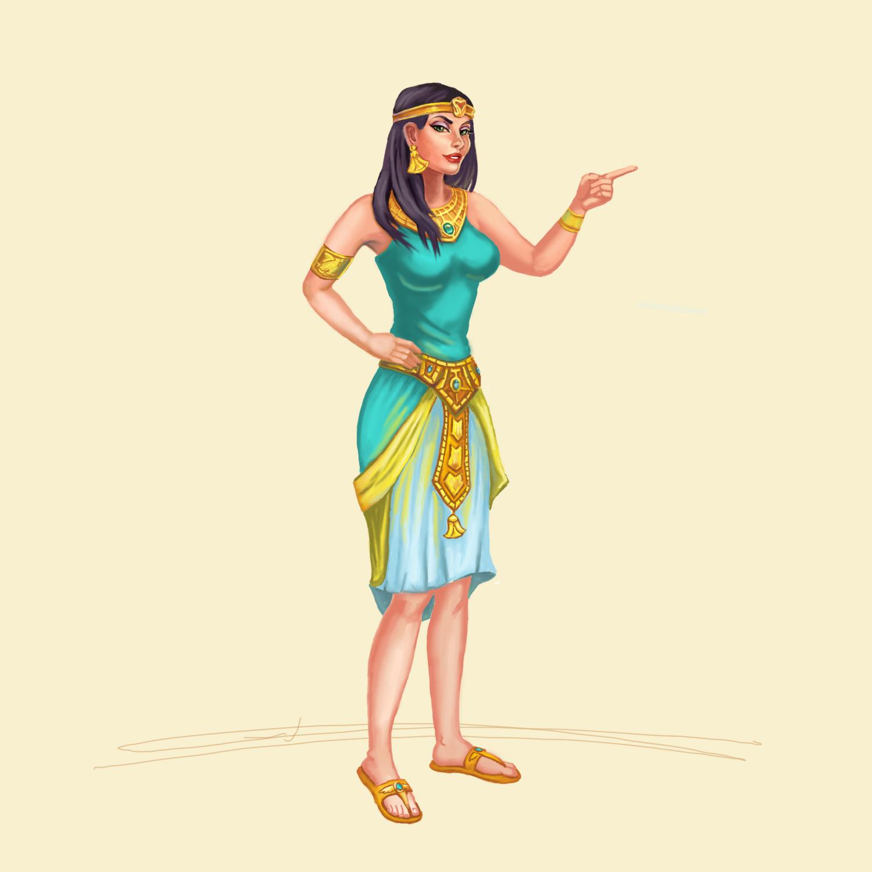 Клеопатра (отрисовка по личному заказу с онлайн-игры)