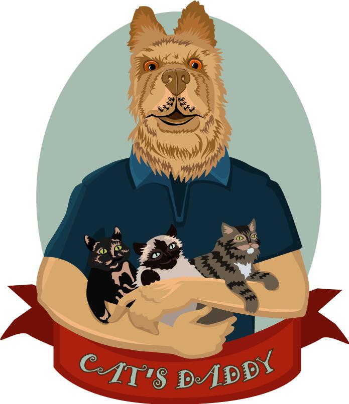 """""""Остров собак"""" принт на футболку по индивидиуальному заказу"""