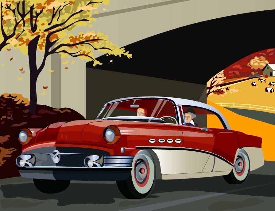 Иллюстрация для плаката (автомобиль)