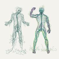"""Персонаж """"нервная система человека"""", которая стрессует и разваливается из-за ремонта."""