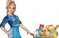 Девушка (шоппинг) иллюстрация в векторе