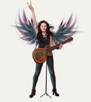 Рок-певица (арт о авторскому заказу)
