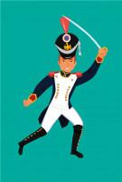 Солдатик наполеоновской армии (для коллекции детских солдатиков)