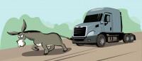 Иллюстрация для статьи о американских дальнобойщиков