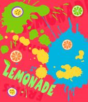 """Картина """"Лимонад"""" для кафе, вектор"""