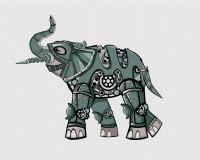 Слон в стиле стимпанк