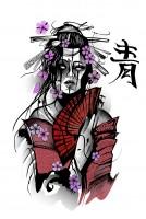 Китаянка (принт для футболки)