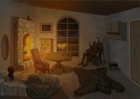 Фентези комната (рисовал по личному заказу)
