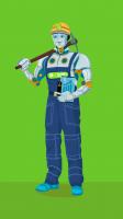"""Робот - """"роботяга"""" (персонаж для сайта)"""