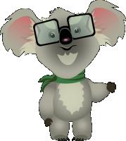 Персонаж для игры, умный Коала