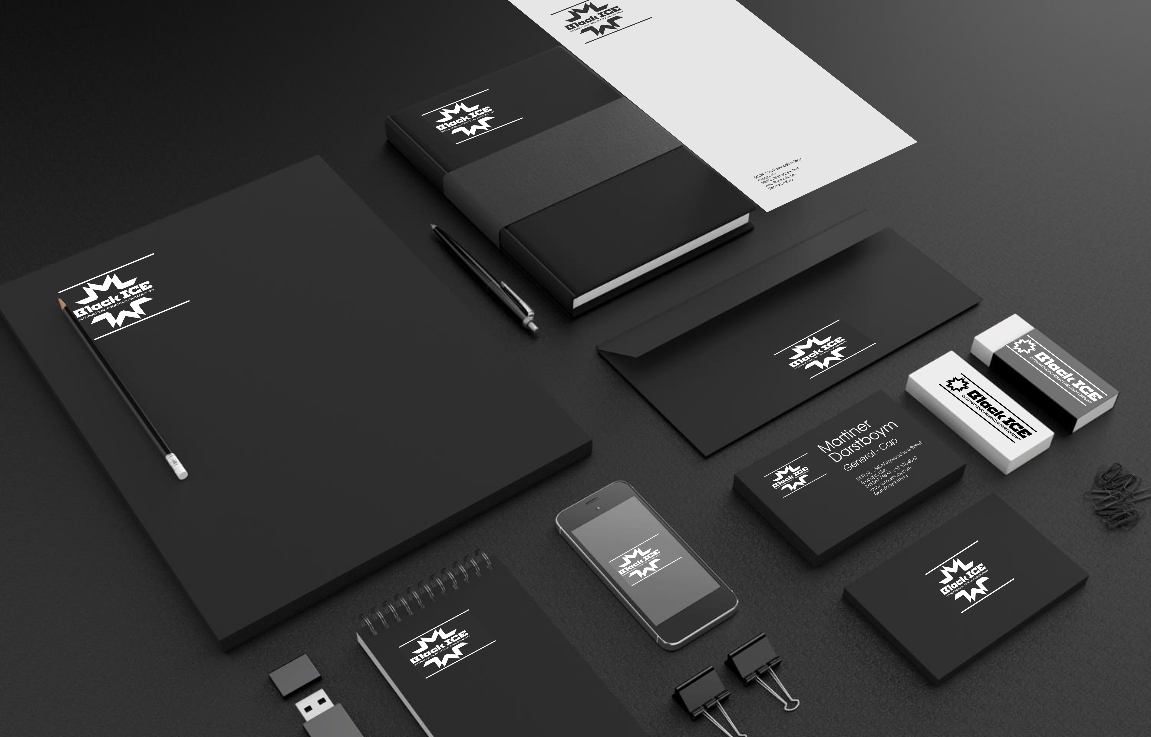 "Логотип + Фирменный стиль для компании ""BLACK ICE"" фото f_82156eb3a539f7cf.png"