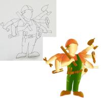 Прорисовка персонажа с шестью руками