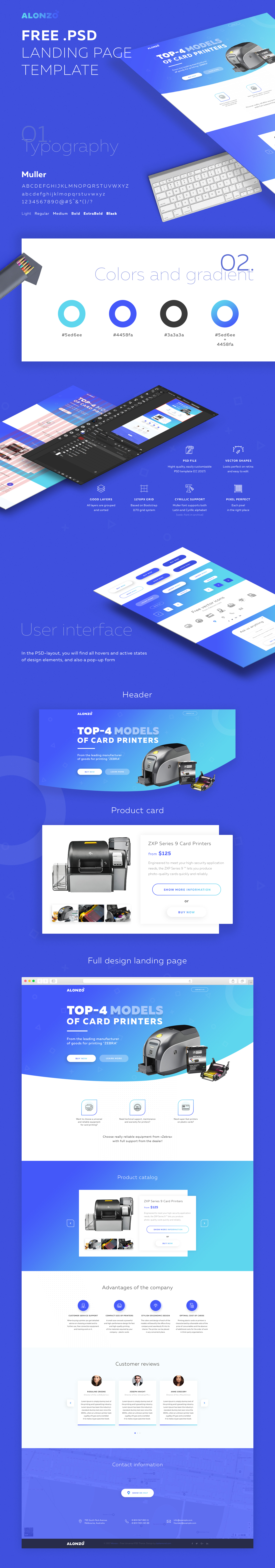 Alonzo – Landing Page PSD Template Free Download