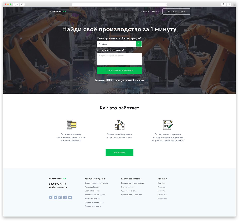 Главная страница для сайта «Всем завод»
