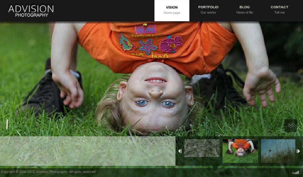 Сайт портфолио Advision.com.ua