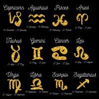 Знаки зодиака золотые все- сборка