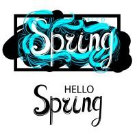 Леттеринг HELLO Spring