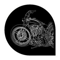 Мотоцикл Отрисовка в Corel Draw.