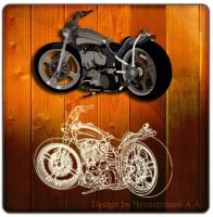 Мотоцикл - отрисовка в Corel Draw