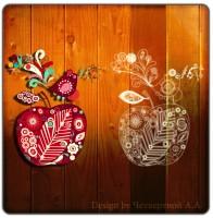 Яблоко, отрисовка в Corel Draw