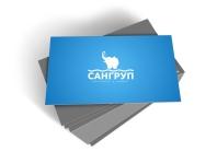 Визитка Сангруп 1 (разработка лого Сангруп)