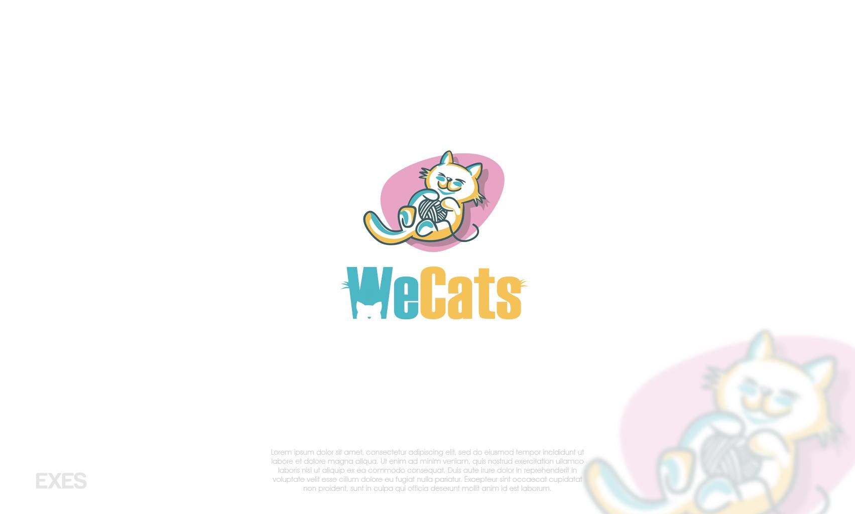Создание логотипа WeCats фото f_7595f1af8a03b591.jpg