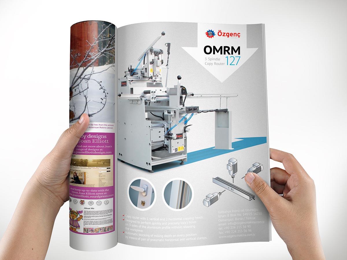 рекламный модуль станка в журнал