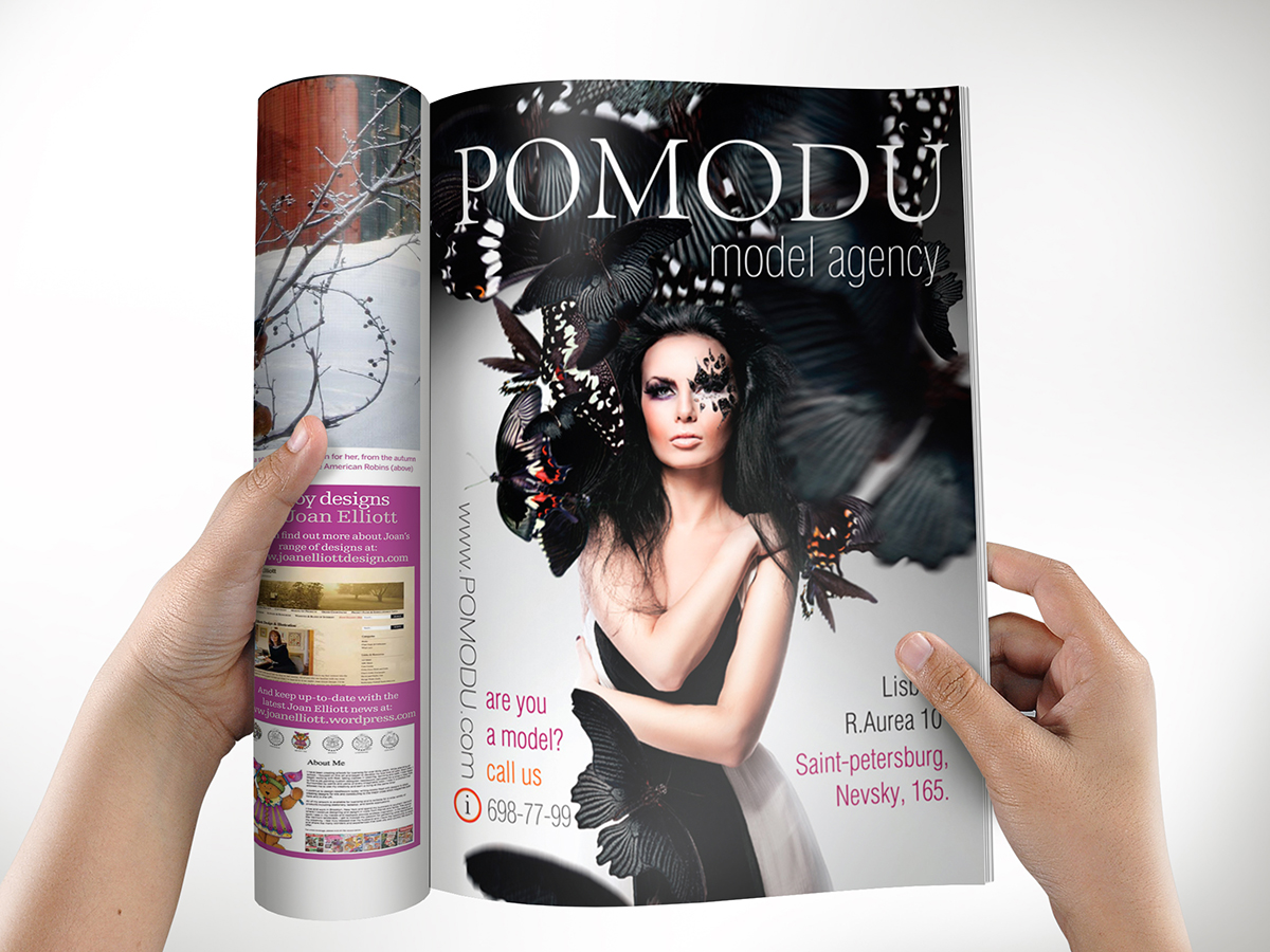 рекламный модуль Pomodu в журнал