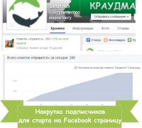 (ДЛЯ СТАРТА) накрутка 250 подписчиков на Facebook страницу