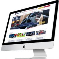 Дизайн сайта автомагазина Scania