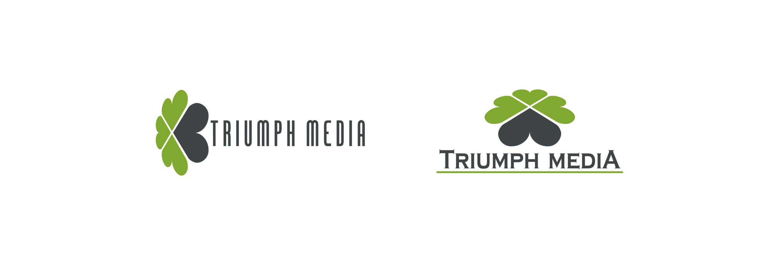 Разработка логотипа  TRIUMPH MEDIA с изображением клевера фото f_506ece0ba7924.jpg