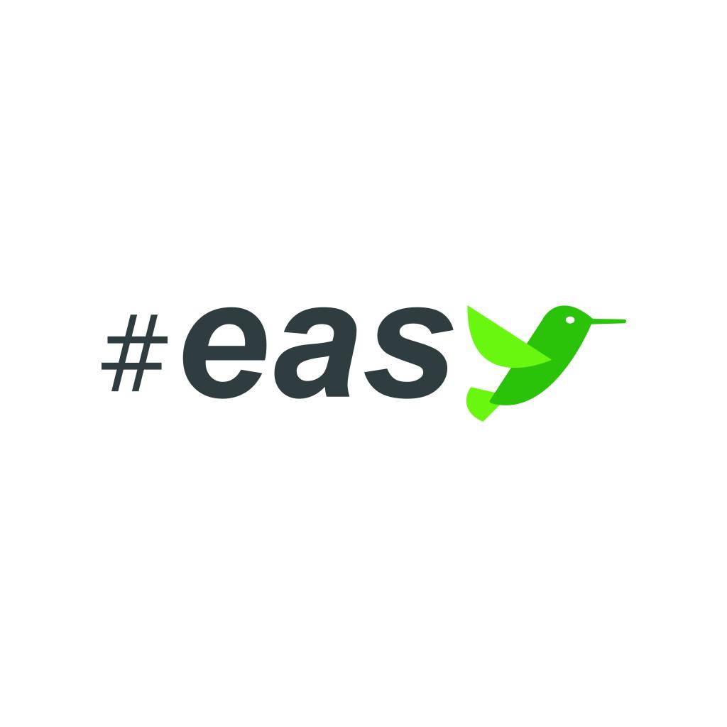 Разработка логотипа в виде хэштега #easy с зеленой колибри  фото f_1815d4f21d8ecb41.jpg