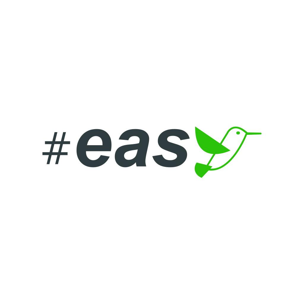 Разработка логотипа в виде хэштега #easy с зеленой колибри  фото f_6605d4f21e2e2e19.jpg