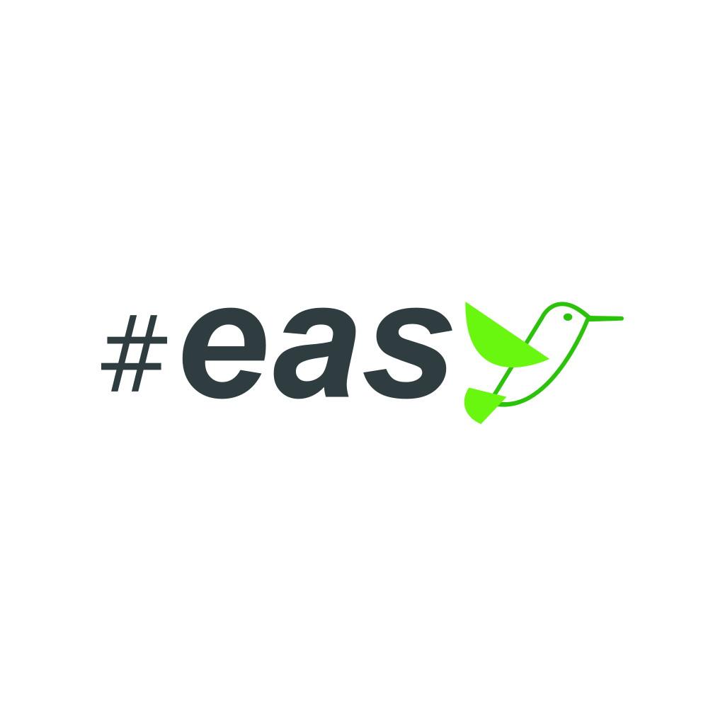 Разработка логотипа в виде хэштега #easy с зеленой колибри  фото f_7845d4f21f7712e5.jpg