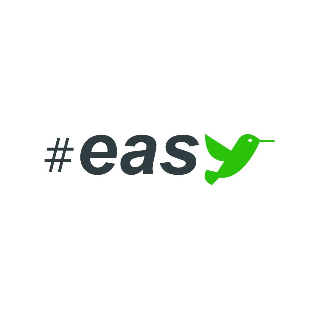 Разработка логотипа в виде хэштега #easy с зеленой колибри  фото f_9525d4f21c96f914.jpg