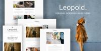 Leopold - Personal WordPress Blog Theme