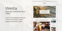 Westa - Personal WordPress Blog Theme
