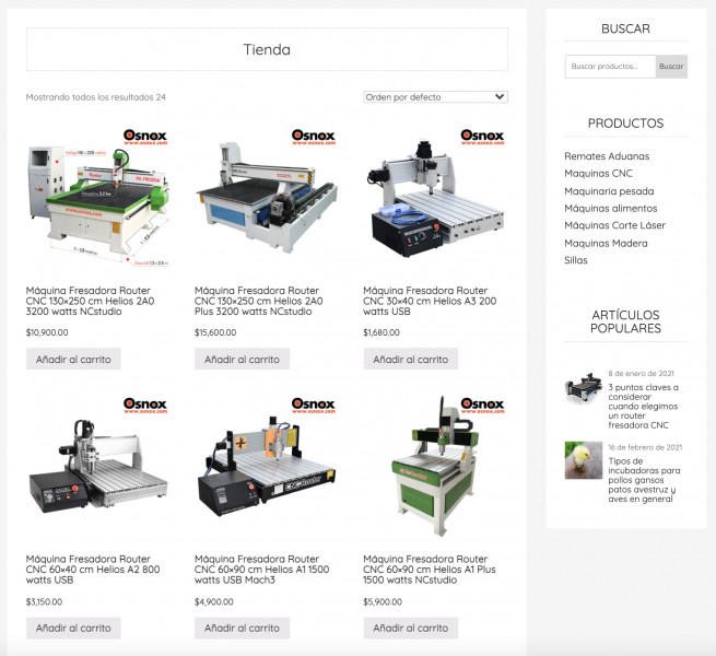 Osnox.com - WooCommerce Shop