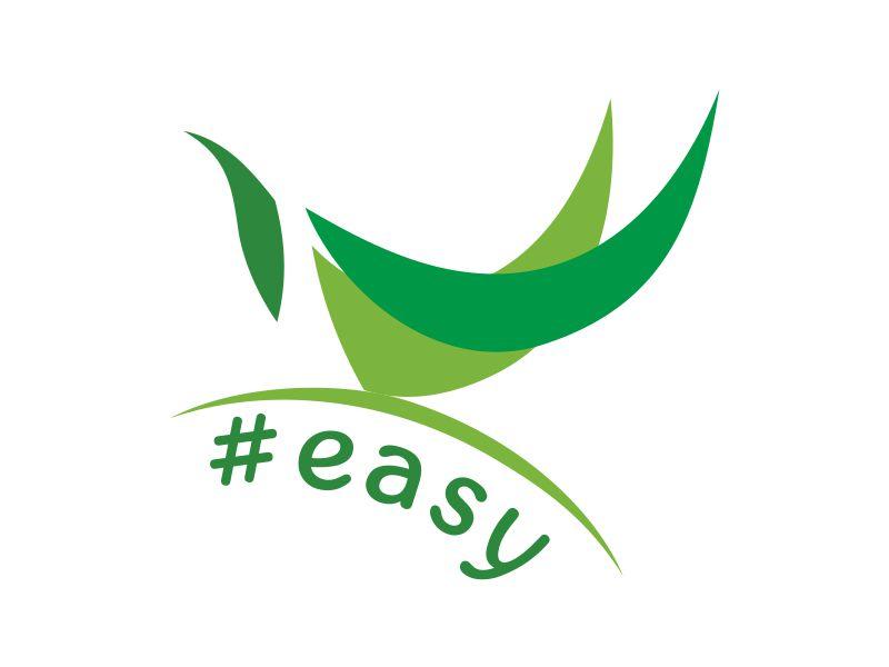 Разработка логотипа в виде хэштега #easy с зеленой колибри  фото f_3365d52e801e4984.jpg